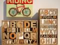 Set of furniture letters