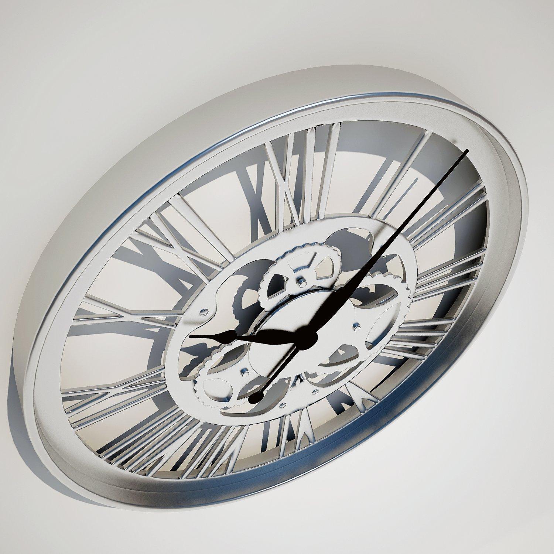 Wall Clock Gear Kare Design 3D Model in Household Items 3DExport