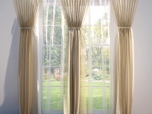 Curtains and Blinds beige