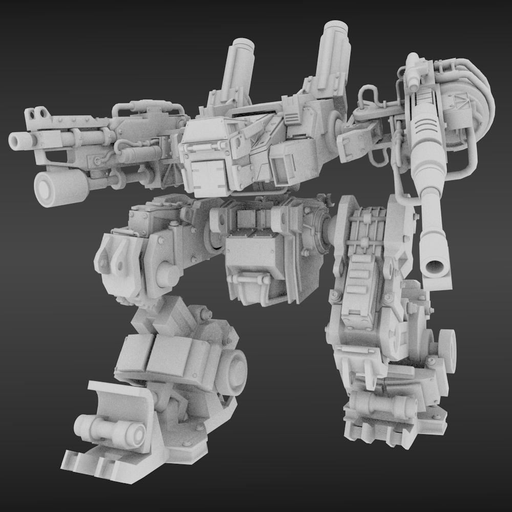 Robot Mech mark3 3D Model in Robot 3DExport