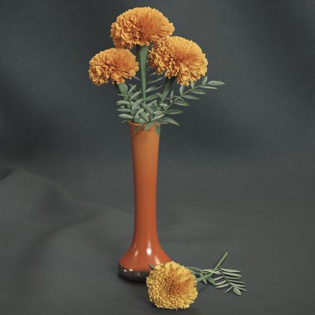 Marigolds 3D Model