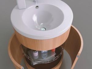 Cylindirical bath cupboard
