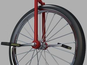 One wheeled cycle