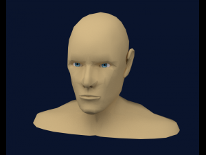 Mens Head Low poly