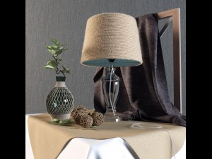 Decorative set with lamp