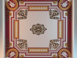 Ceiling moldings canteen