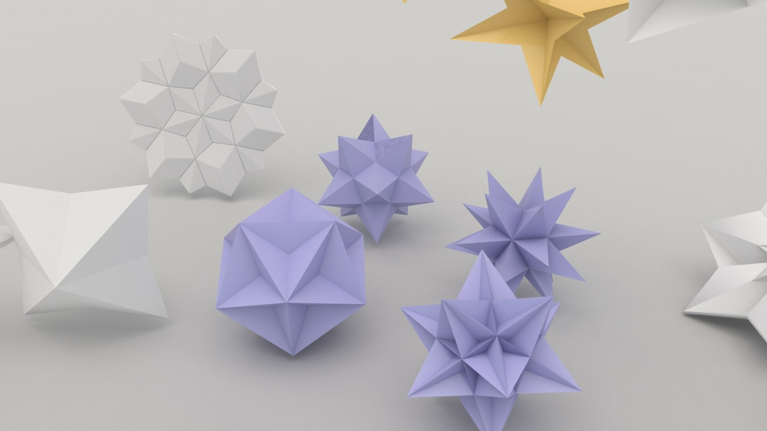 Origami Flower 3d Model In Other 3dexport