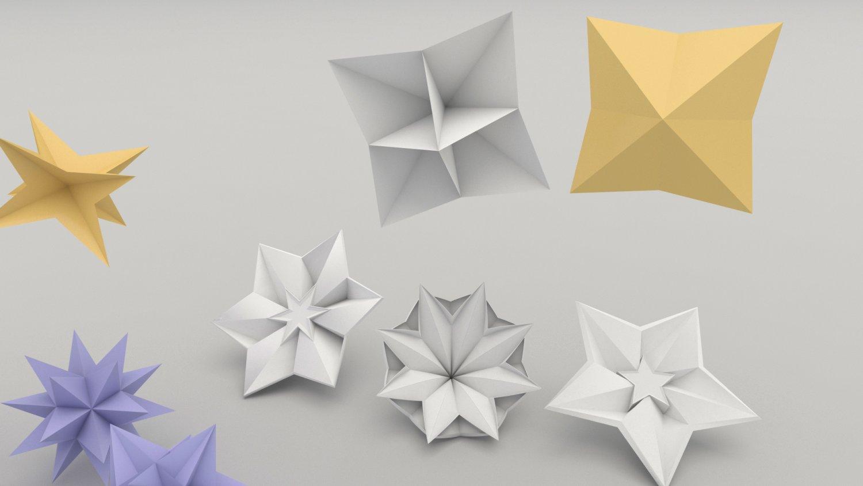 Origami flower 3d model in other 3dexport origami flower 3d model mightylinksfo