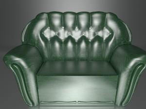 Emerald green sofa