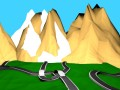Low poly game environment Road map