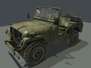 Jeep 106 low poly