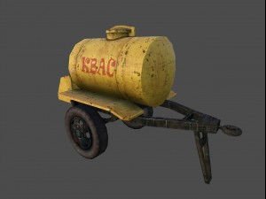 Barrel for sale drinks USSR Low Poly