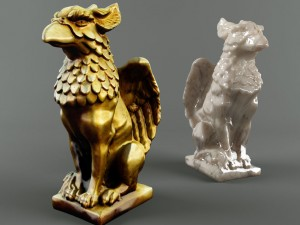 A statuette of a griffin