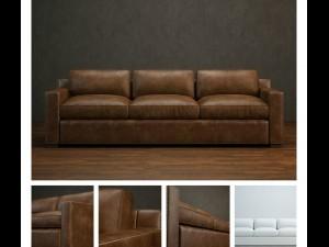 High-quality leather sofa