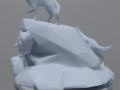 Low Poly Wolves 3D Model