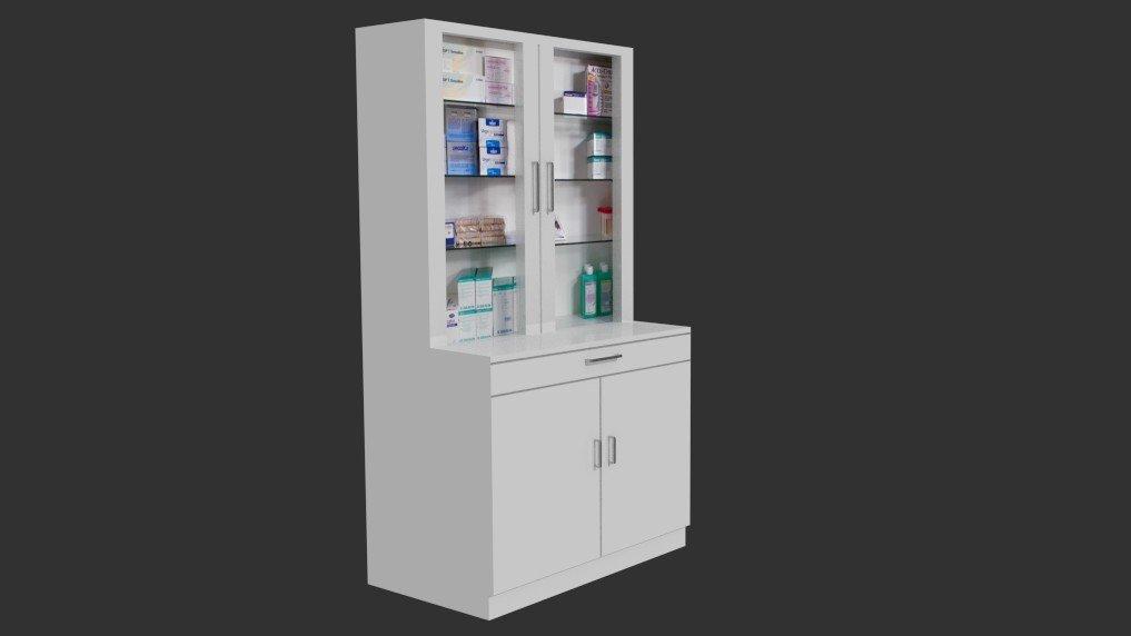 Medical cabinet 3D Model in Medical Equipment 3DExport