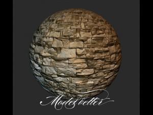 Modern stone brick wall