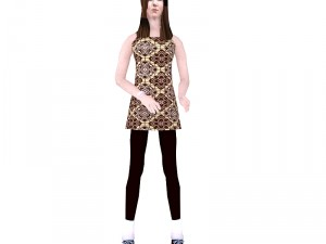 Low Poly woman model