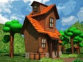 Cartoon house low-poly