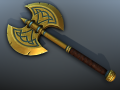 Fantasy Axe - low poly