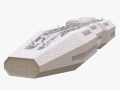 SciFi Battle Cruiser non-textured version