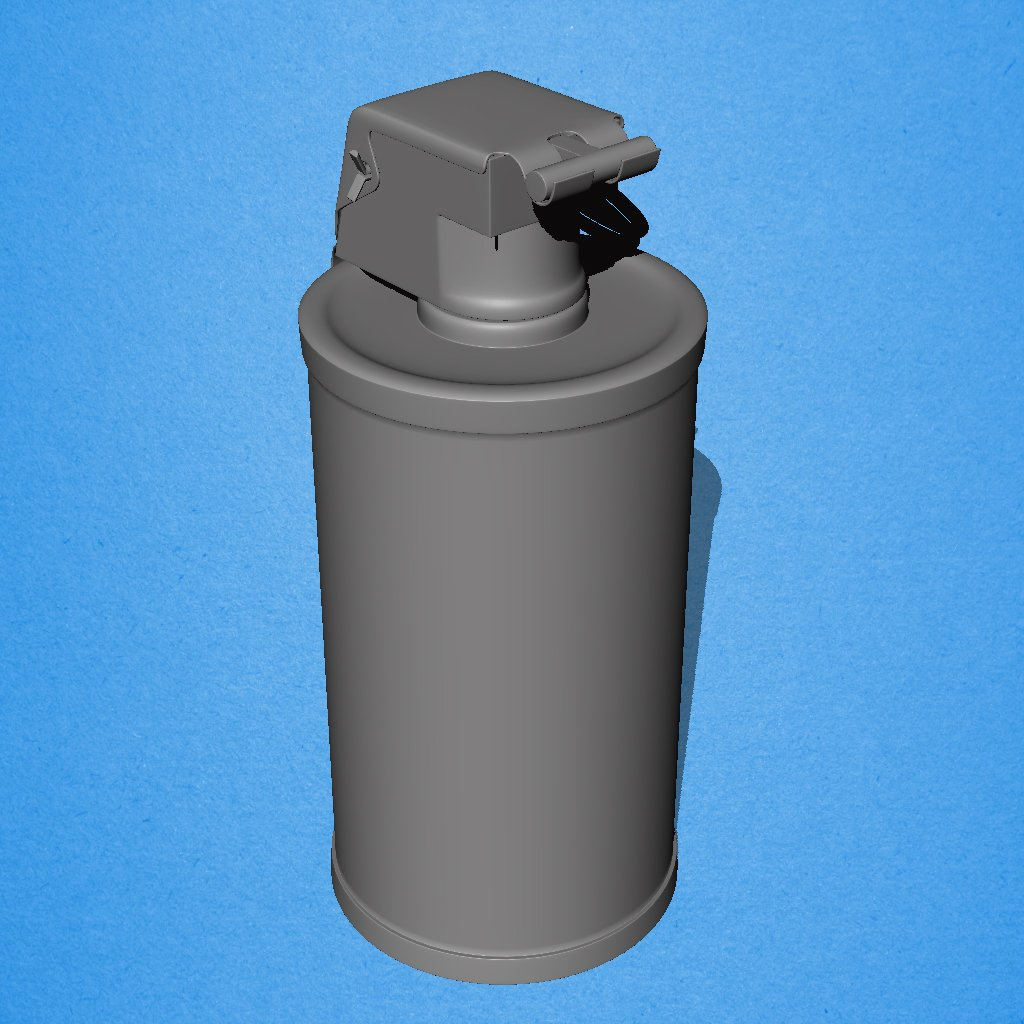 M18 Smoke Grenade 3D Model in Projectiles 3DExport