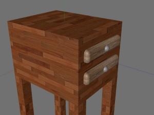 Wood bedroom nightstand materials