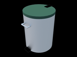 Trash bin with pedal stainless steel