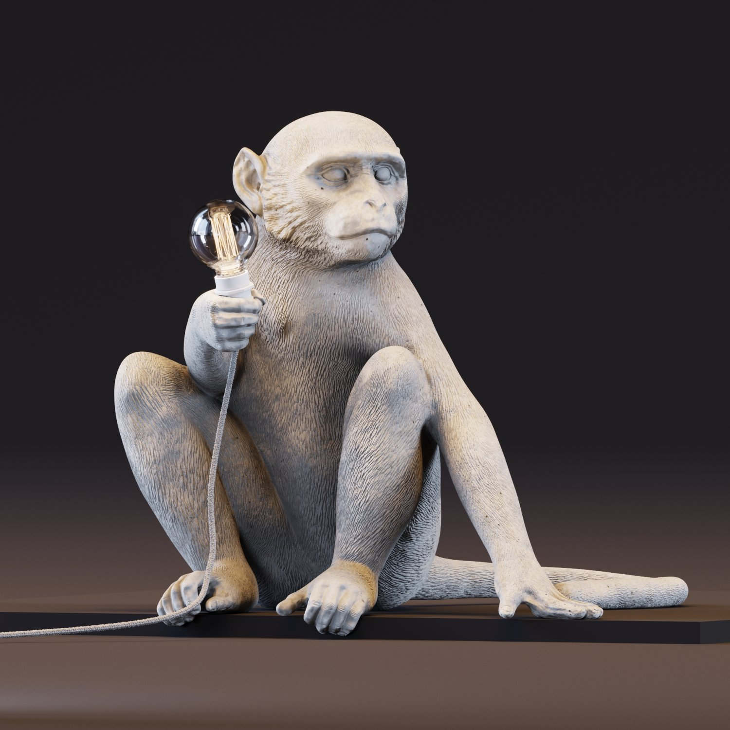 The Monkey Lamp Sitting Version. Remove Bookmark Bookmark This Item