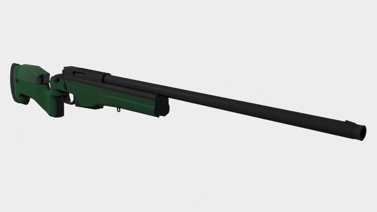 SAKO TRG 42 Sniper rifle 3Dモ...
