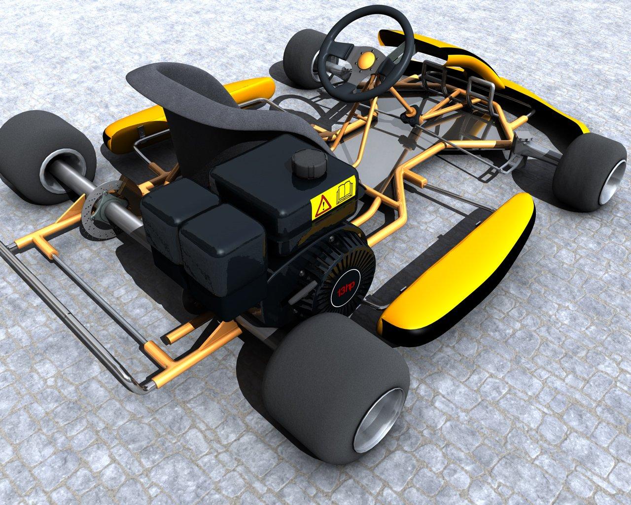 kart 3d Racing Go Kart 3D Model in Cart 3DExport