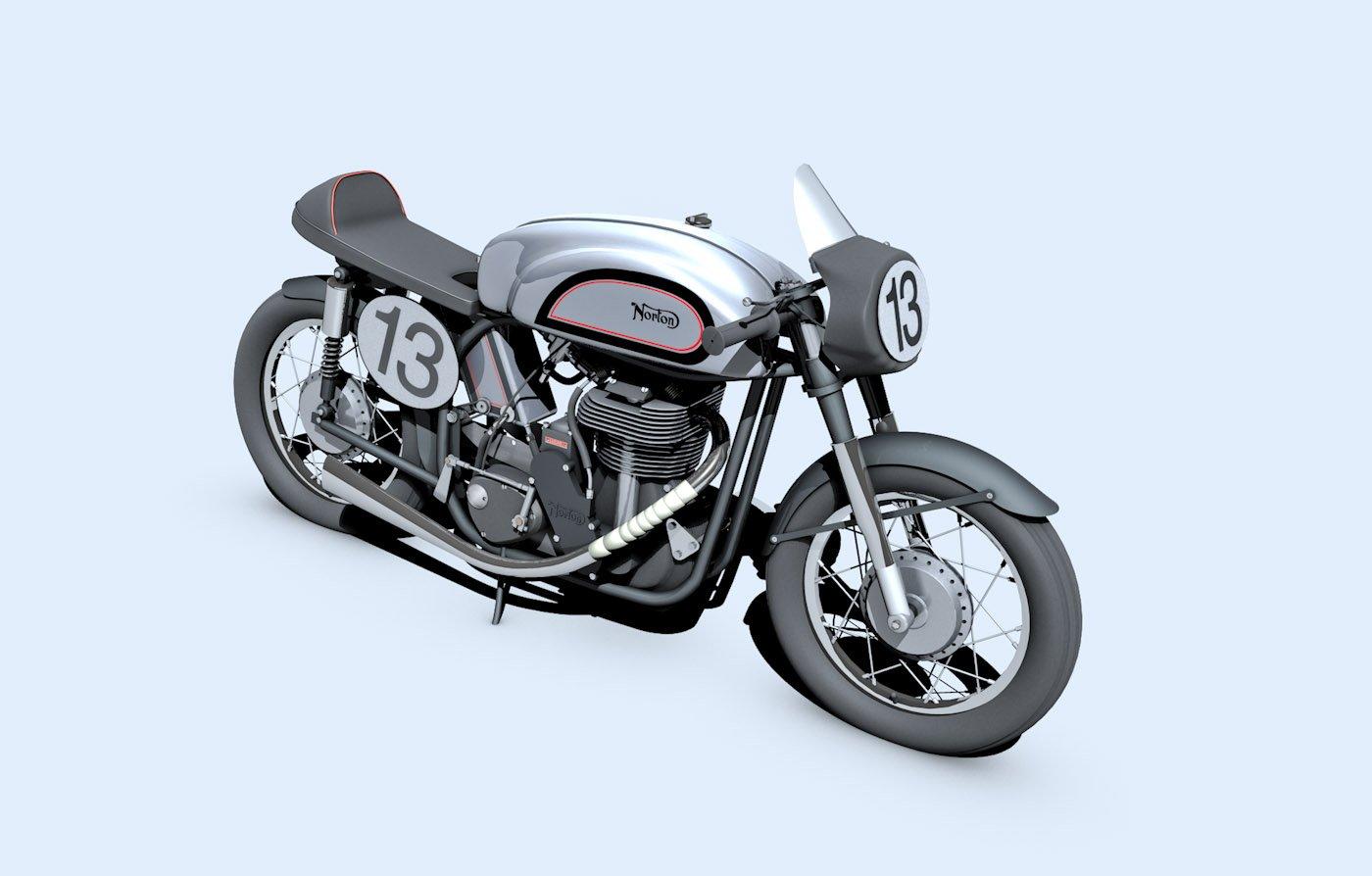 Norton Manx Motorcycle 3D Model in Motorcycle 3DExport