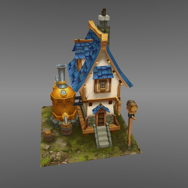 Awesome Fantasy House 2 3D Model