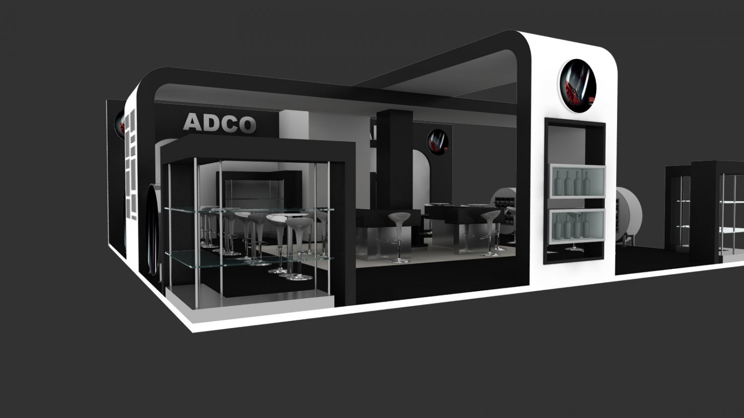 Exhibition Stand 3d Model Free : Adco exhibition stand design adco d model in exhibit dexport