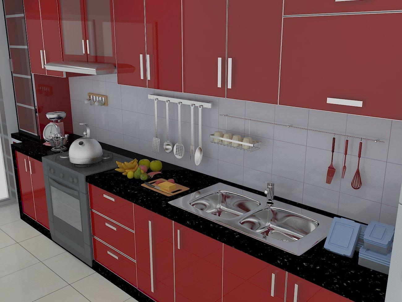 Kitchen design 3d 3d model