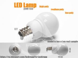 HQ Photorealistic LED Bulb - LED Lamp