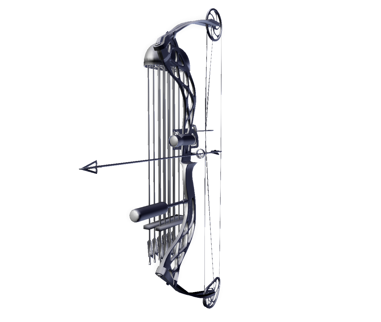 Compound Bow 3d Model In Projectiles 3dexport