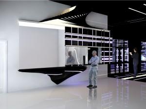 Interior of public space