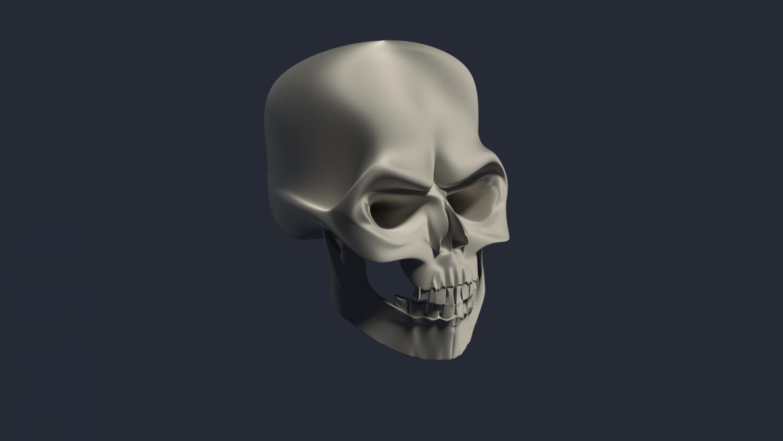 Evil skull 3D Model in Anatomy 3DExport