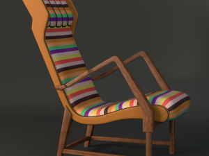 Rare Italian lounge chair