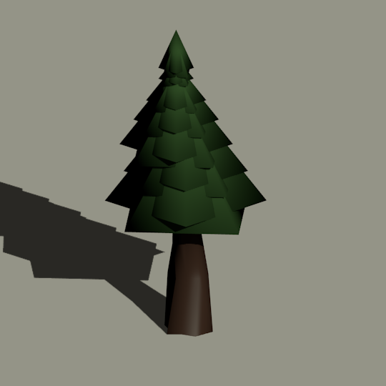 low poly tree for video games 3d model in tree 3dexport - Polytree Christmas Tree