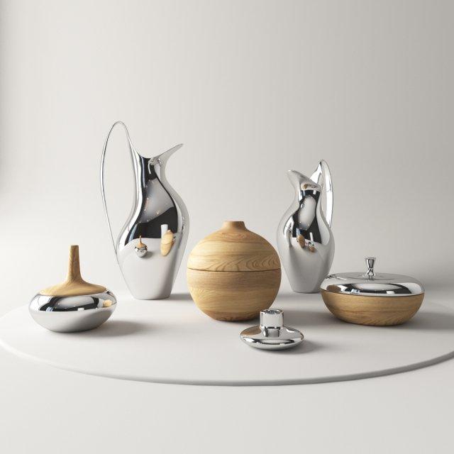 Pæn Georg Jensen Henning Koppel 3D Model in Cookware Tools 3DExport CY46