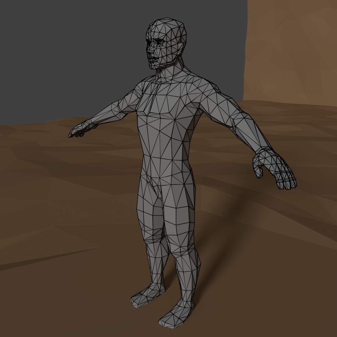 Low Poly Male Base Mesh Rigged 3D Model in Man 3DExport