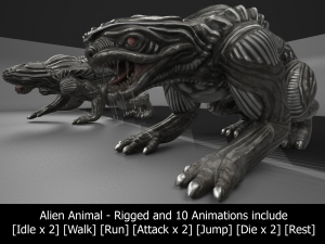 Alien Animal Rigged and Animated