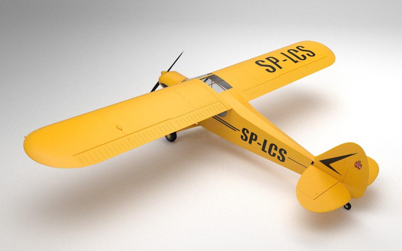 Piper PA-18 Supercub Free 3D Model in Old 3DExport