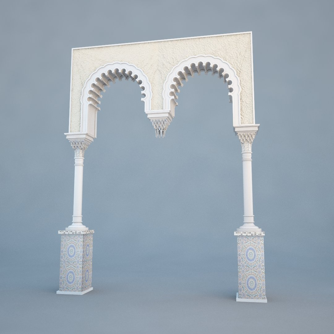 Islamic Arch 3d Model In Miscellaneous 3dexport