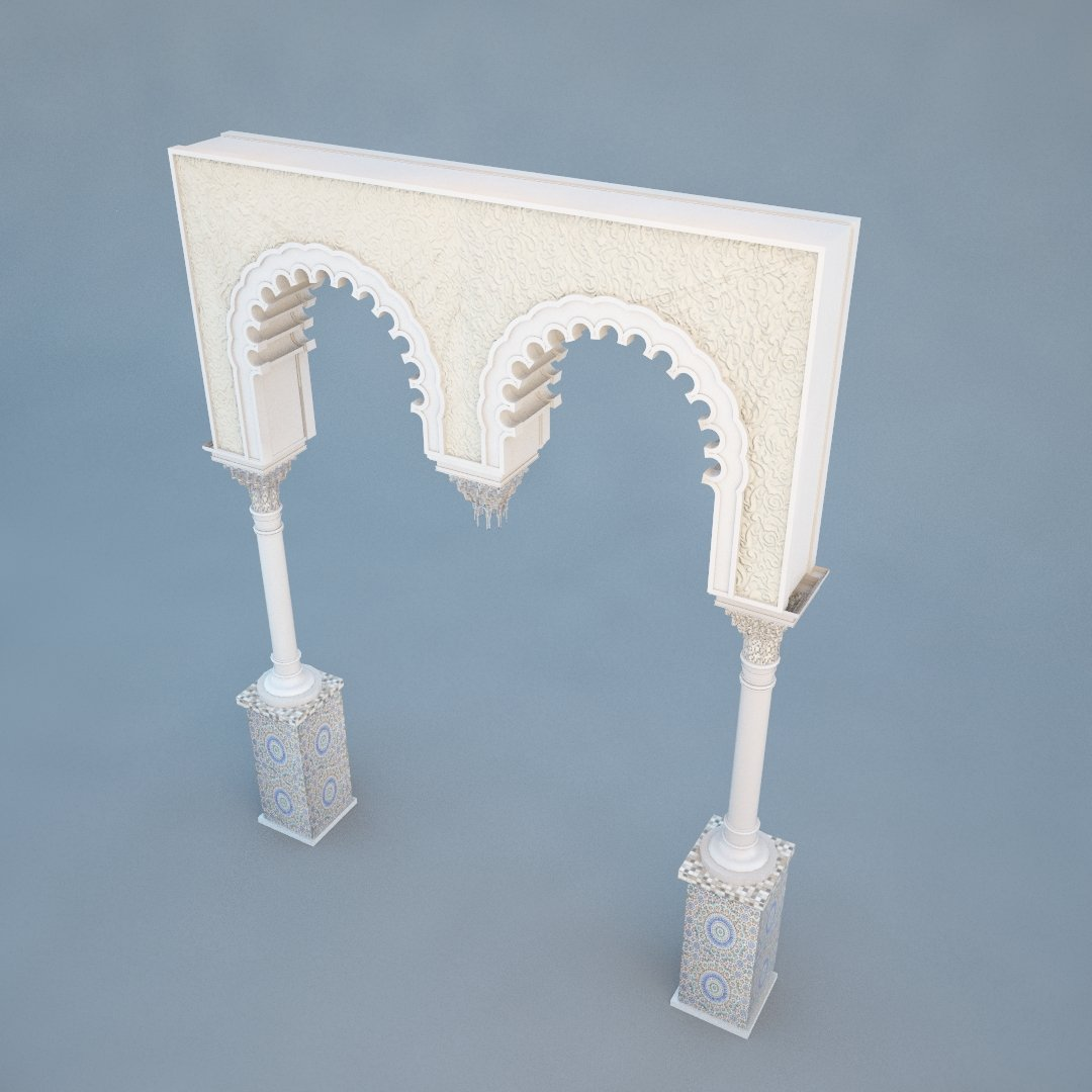 Islamic Arch 3D Model in Miscellaneous 3DExport