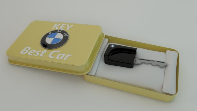 BMW Key case Cinema 4D 3D Модель in Другое 3DExport