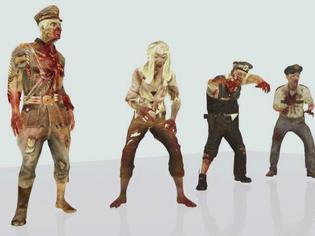 Zombie pack animation 3D Model in Monster 3DExport