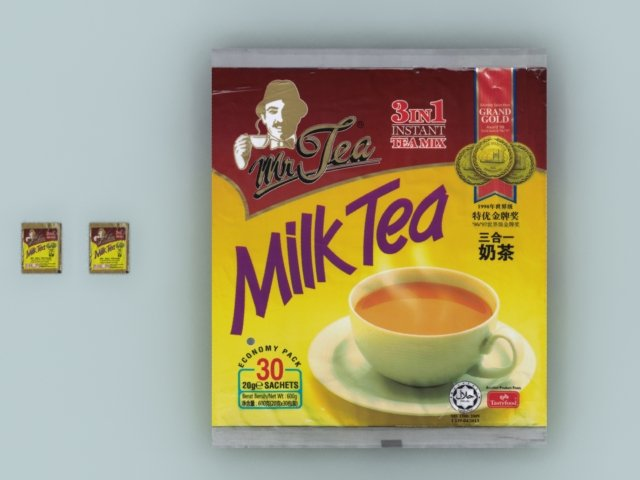 Mr Tea 3-in-1 Milk Tea sachets big bag max 3D Model in Miscellaneous  3DExport